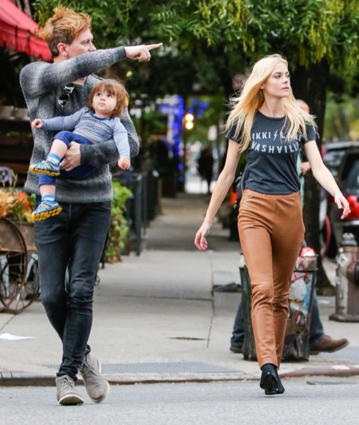 Jaime King & Family Out For An Evening Stroll In NYC