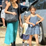 Jessica Alba Enjoys The Pumpkin Patch With Her Girls