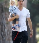 Exclusive... Josh Duhamel Takes Axl To A Baby Class