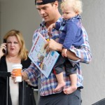 Josh Duhamel Takes His Baby Boy to Breakfast