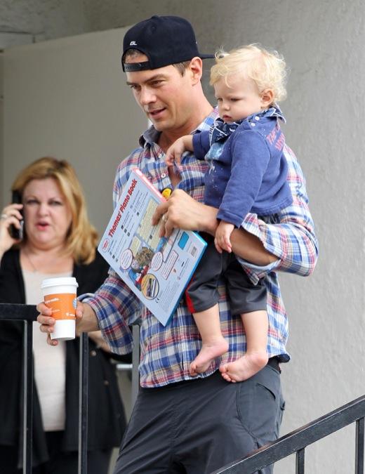 Josh Duhamel Takes His Baby Boy to Breakfast