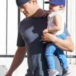 Josh Duhamel & Axl Catch Breakfast on Saturday