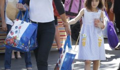 Katie Holmes & Daughter At The Farmer's Market