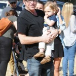 Tom Arnold Takes His Son to the Pumpkin Patch