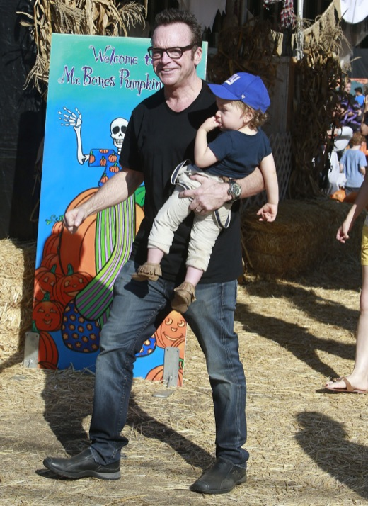 Tom Arnold Takes Son Jax To Mr. Bones Pumpkin Patch