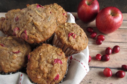 ... peel the apples apple oat muffins with pecans apple cranberry crumble