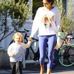Alessandra Ambrosio Lunches With Noah