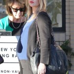 Pregnant Ali Larter Shops at Barneys