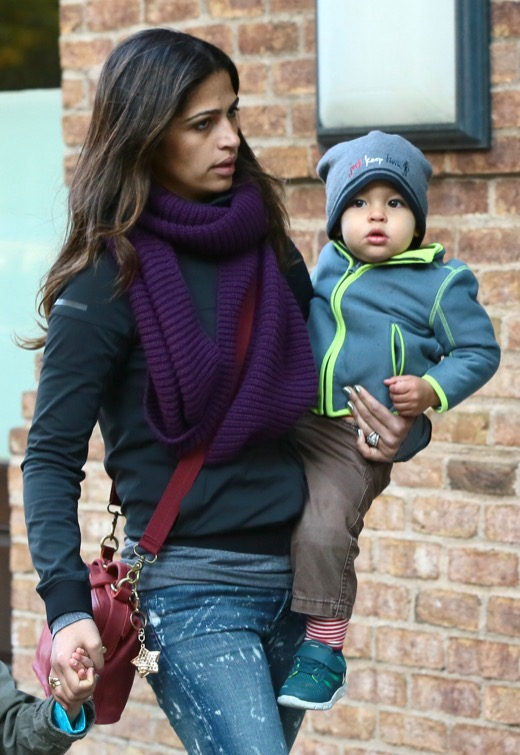 Camila Alves Out With Her Children In NYC