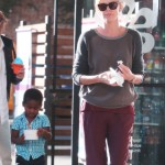Charlize Theron & Sean Penn Take Jackson For Frozen Yogurt