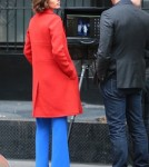 Pregnant Coco Rocha Films 'The Face' In NYC
