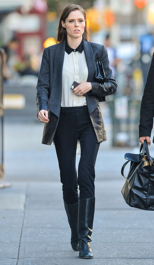 Pregnant Coco Rocha & James Conran Out And About In NYC