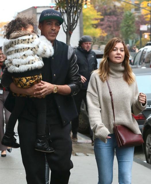 Ellen Pompeo & Family Go For A Stroll In New York