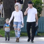 Hilary Duff & Mike Comrie Enjoy a Happy Day With Luca