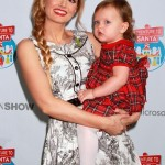 Holly Madison Takes Rainbow to Meet Santa