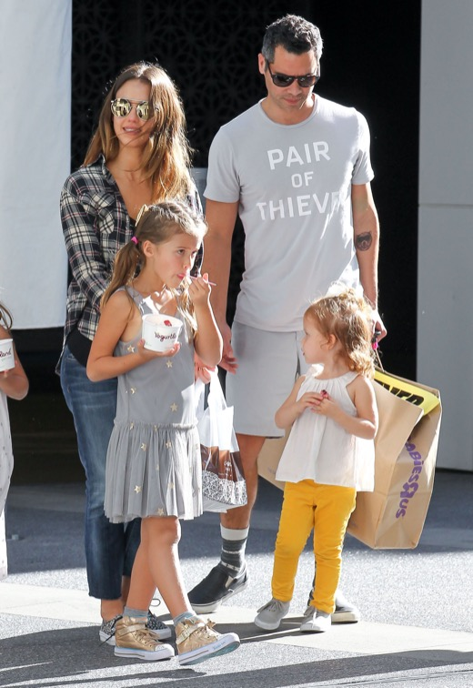 Jessica Alba & Family Out At The Movies