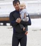 Josh Duhamel Hangs Out With His Son On Set
