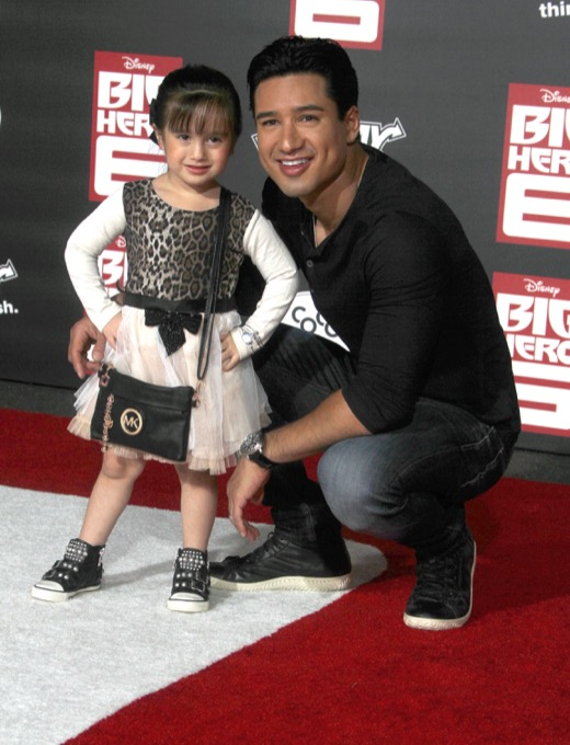 Mario Lopez Takes Gia to the Big Hero 6 Premiere