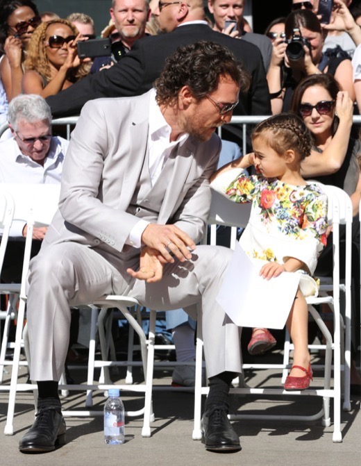 Matthew McConaughey Receives Hollywood Walk of Fame Star Alongside Family
