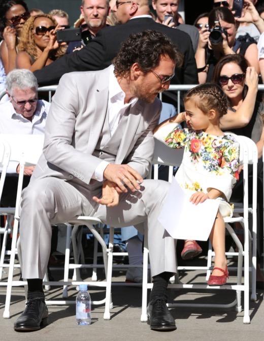 Matthew McConaughey Receives Hollywood Walk of Fame Star Alongside Family