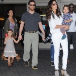 Matthew McConaughey & Family Touch Down at LAX