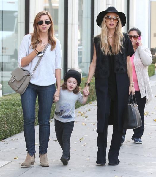 Rachel Zoe & Son Shopping In West Hollywood