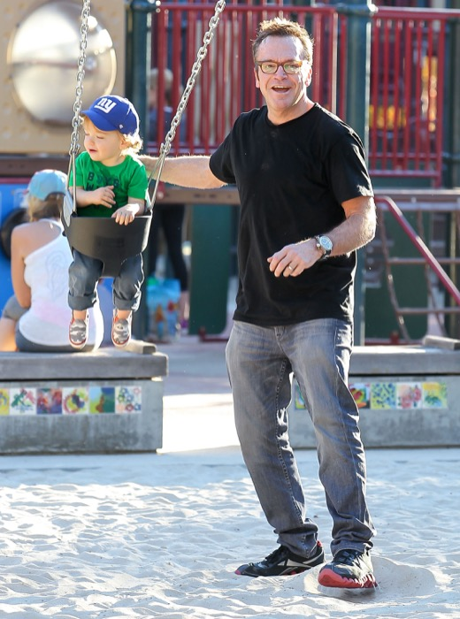 Tom Arnold Takes Son Jax To The Park