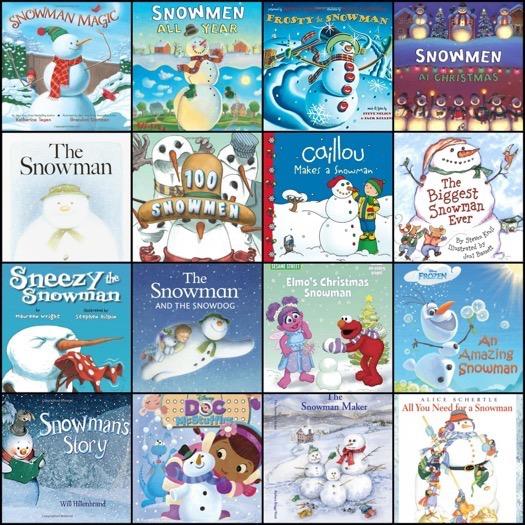 25 Snowmen Books