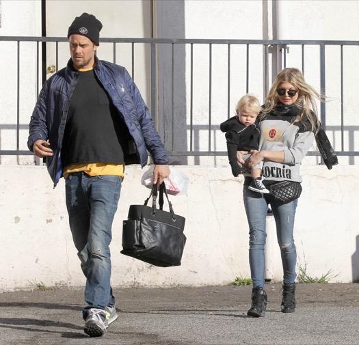 Fergie & Josh Take Axl Out For Breakfast
