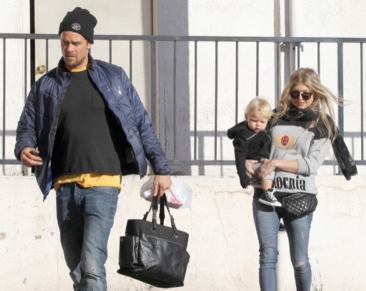 Fergie & Josh Take Axl Out For Breakfast