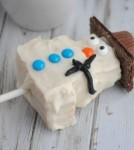 Rice Krispie Treat Snowmen