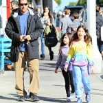 Adam Sandler Spends The Day With His Girls
