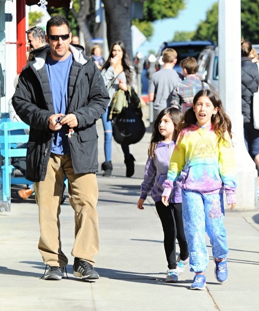 Adam Sandler Takes His Girls Out For Lunch