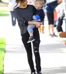 Alessandra Ambrosio Takes Her Son To Lunch