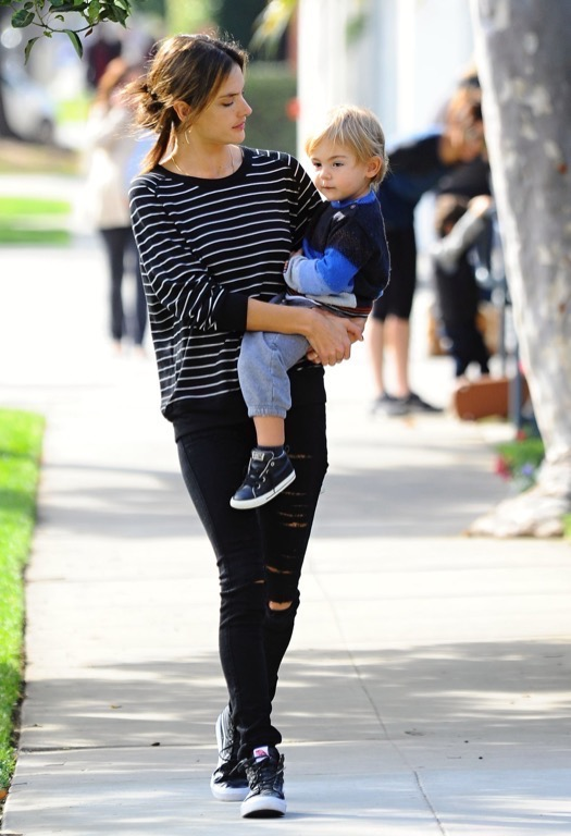 Alessandra Ambrosio & Noah Enjoy Monday Lunch Together