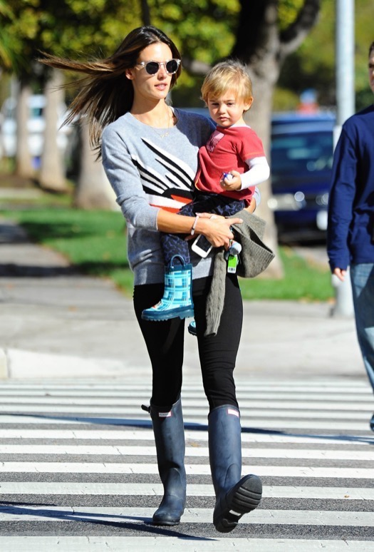 Exclusive... Alessandra Ambrosio Out For A Stroll With Her Son