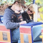 Anna Faris & Chris Pratt Visit a Train Museum With Their Son
