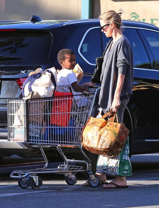 Charlize Theron Goes Grocery Shopping With Jackson