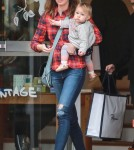 Emily Blunt Takes Hazel Christmas Shopping At Fred Segal
