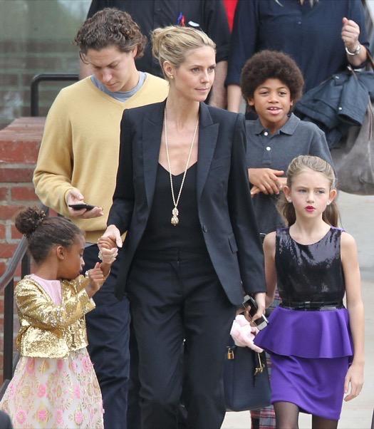 Heidi Klum Amp Vito Schnabel Take Her Kids To See The