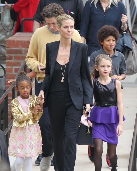 Heidi Klum S Handsome Sons Henry And Johan Are All Grown: Heidi Klum & Vito Schnabel Take Her Kids To See 'The
