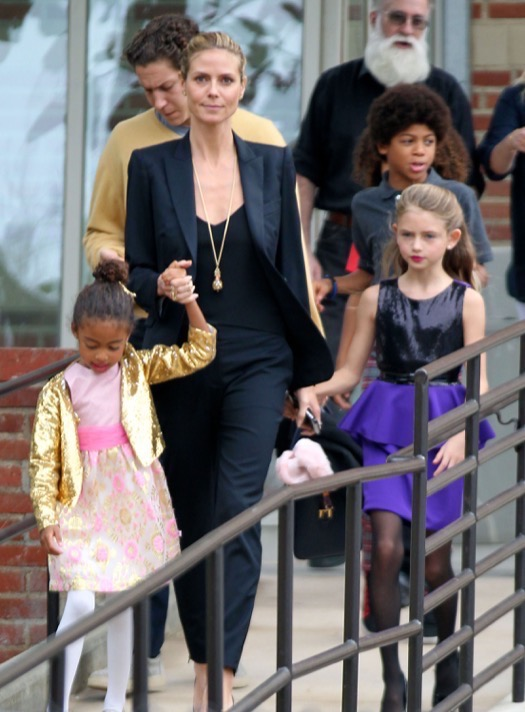 Heidi Klum & Vito Schnabel Take Her Kids To See 'The Nutcracker'