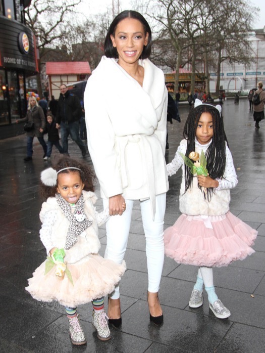 Melanie Brown & her Girls Look Angelic While Attending VIP Screening