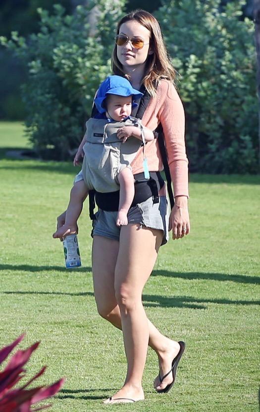 Exclusive... Jason Sudeikis & Olivia Wilde Out With Their Son Otis In Maui