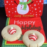 Holiday Peppermint Kiss Cookies