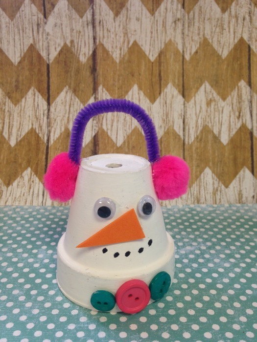 Frugal Flowerpot Snowman Craft For Kids