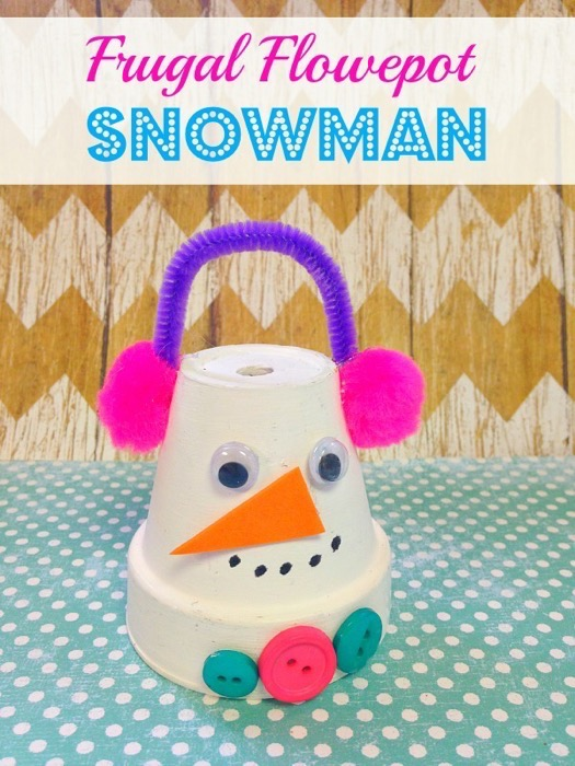 Frugal Flowerpot Snowman