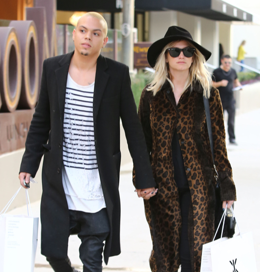 Pregnant Ashlee Simpson & Evan Ross Shopping In West Hollywood