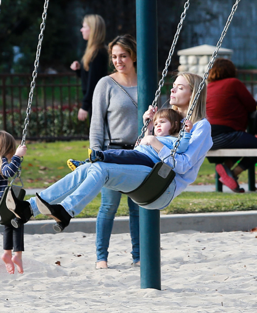 Jaime King Enjoys a Park Day With Family