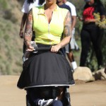 Amber Rose Takes a  Hike With Sebastian